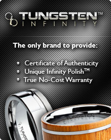 We sell Tungsten Infinity rings