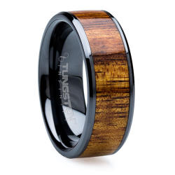 Koa Black Beveled