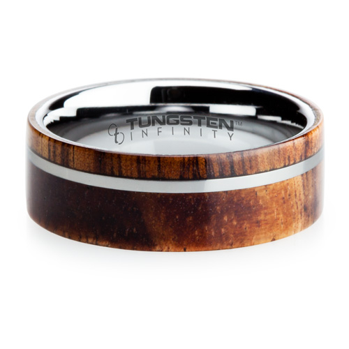 mens tungsten online koa - Koa Wood Wedding Rings