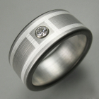 Titanium Deco Diamond Ring
