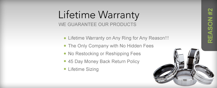 Lifetime Warranty - We guarantee our products - All Inclusive - No Questions Asked - Zero Stipulations - Includes Lifetime Sizing