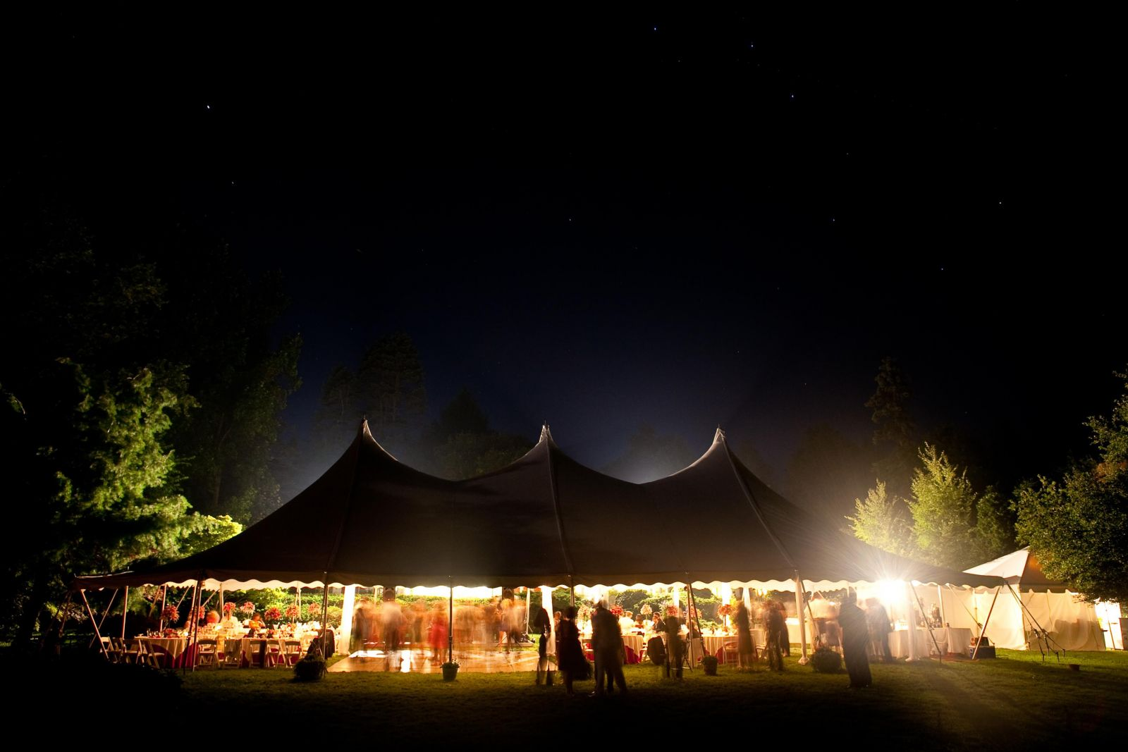 wedding reception at night
